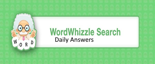 word whizzle search daily answers